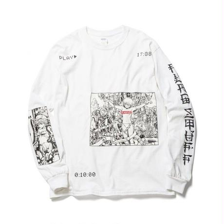 "F-LAGSTUF-F x VIDEO GIRL (電影少女) / ""PLAY"" L/S Tee (white)"