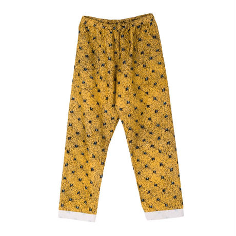 PHINGERIN / NIGHT PANTS NEL FLOOR (yellow)