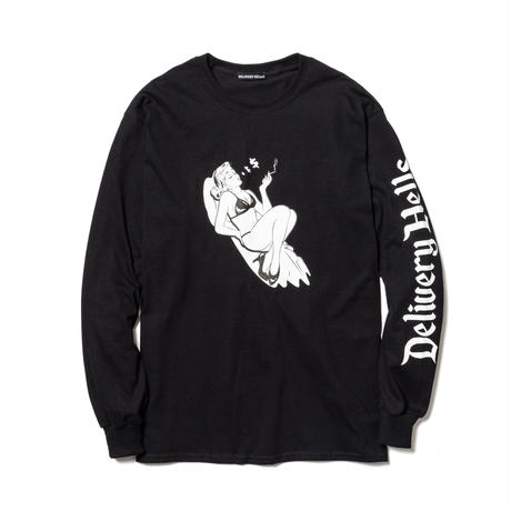 "Delivery Hells / ""$"" L/S Tee (black)"