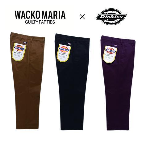 WACKO MARIA × Dickies / PLEATED TROUSERS (black)