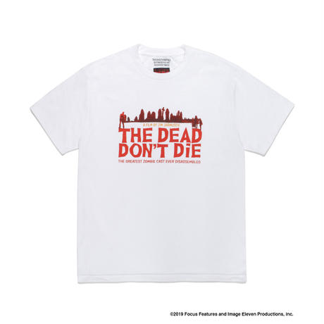 "WACKO MARIA ""JIM JARMUSCH"" 「THE DEAD DON'T DIE」CREW NECK T-SHIRT ( TYPE-1 ) (white)"