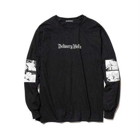"Delivery Hells / ""Four flame"" L/S Tee (black)"