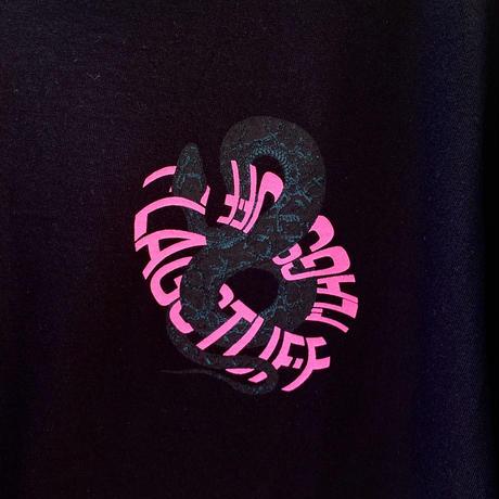 "F-LAGSTUF-F / "" SNAKE Circle ""  Tee (black)"