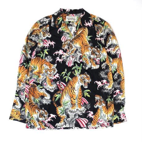 """WACKO MARIA  / """"TIM LEHI"""" L/S Hawaiian Shirt (black)"""