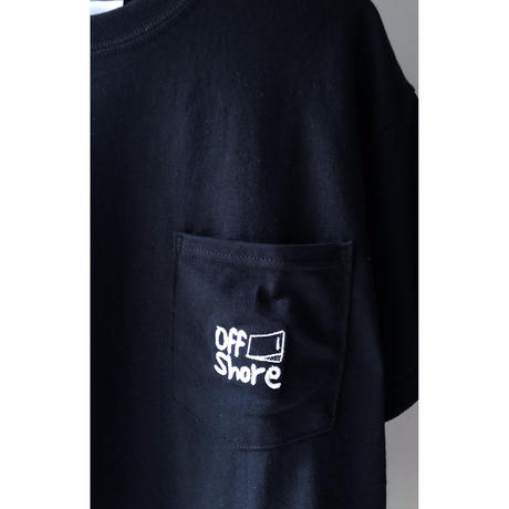 "offshore coffee  "" Pocket  Embroidery  Tee "" ( black )"
