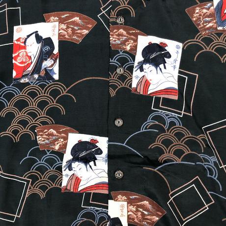 """70's CHEMISE by Kennington """"和柄 Shirt""""   (spice) #A1"""