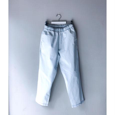 THREE FACE  / indigo Rip-Stop easy pant (bleach)