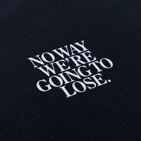 "FORTY PERCENT AGAINST RIGHTS "" NO WAY SS TEE  "" (white)"