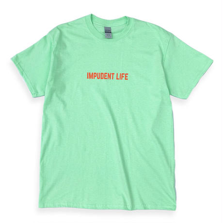 "IMPUDENT LIFE / "" Basic Logo S/S "" TEE (mint green)"