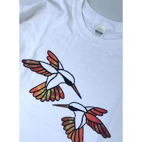 "tr.4 suspension / ""Humming Bird"" EDITION Print L/S Tee (size:M)#9"