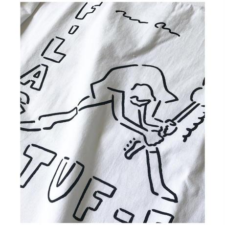 """F-LAGSTUF-F  × Yu Nagaba """"S/S Tee"""" (white)"""