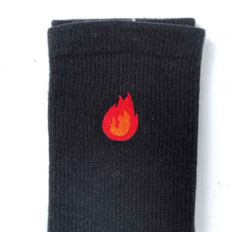 "FORTY PERCENT AGAINST RIGHTS / ""BURN"" SOCKS (red)"