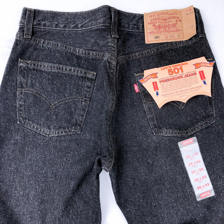 "90's Dead Stock ""Levi's 501 Black Denim ""Made in USA  (spice)"