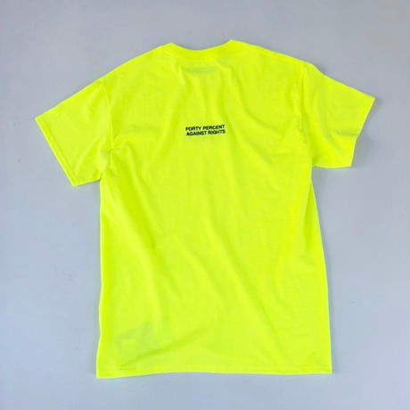 FORTY PERCENT AGAINST RIGHTS / MY LIFE T-SHIRT (yellow)