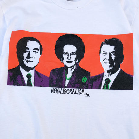 """IMPUDENT LIFE / Re:Suggestion """"Neo Liberalism Tee """" (white)"""