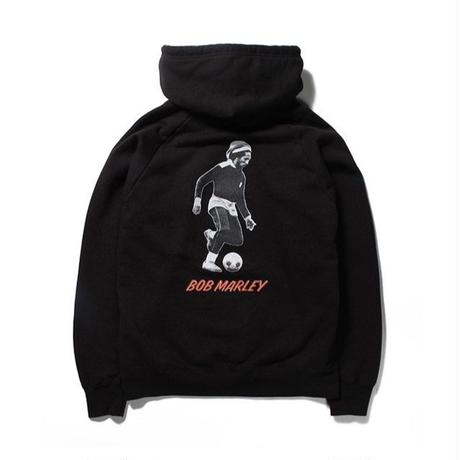 BOB MARLEY x WACKO MARIA /  WASHED HEAVY WEIGHT PULLOVER HOODED SWEAT SHIRT (type-3)