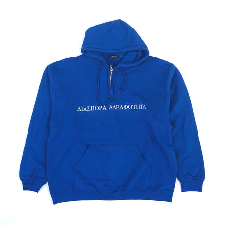 Diaspora skateboards / LL Quarter Zip Hooded Sweatshirt (royal)