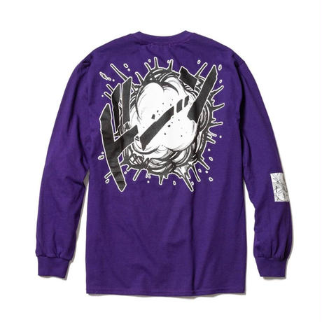 "F-LAGSTUF-F  x DRAGON BALL / ""Super saiyans"" L/S Tee (purple)"