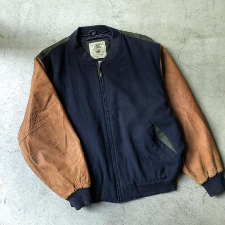 "BANANA REPUBLIC "" leather  × wool  blouson""  (spice)"