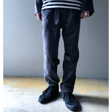 PHINGERIN / BONTAGE PANTS SOFT-CORD (charcoal)
