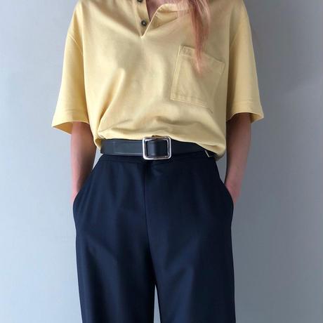 "HERMES /  ""H"" S/S Polo Shirt  (yellow)  (Hi brand hurugi)"