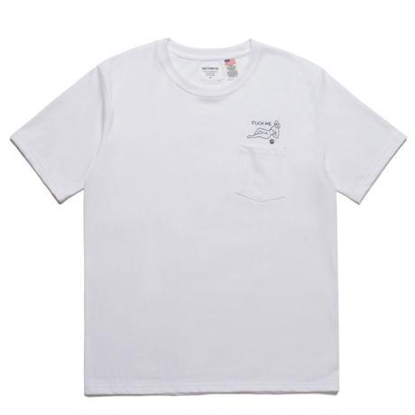 WACKO MARIA  / OVER SIZE CREW NECK POCKET T-SHIRT (TYPE-3) white