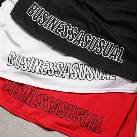 "Tenjinyu / 10th ""BUSINESS AS USUAL"" L/S Tee (white)"