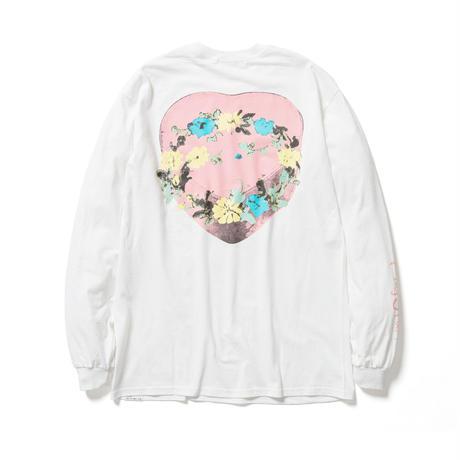"F-LAGSTUF-F / "" Circle Flower "" L/S Tee (white)"