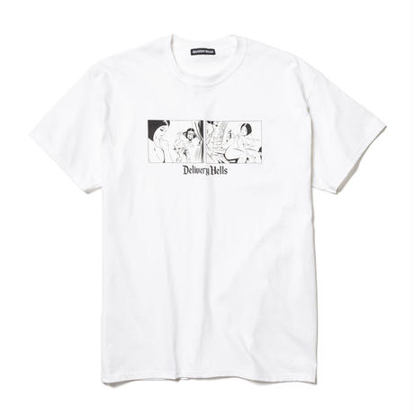 "Delivery Hells / ""Small world"" Tee (white)"