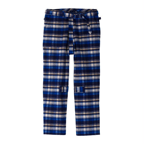 PHINGERIN / BONTAGE PANTS FRANNEL (blue check)