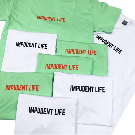 """IMPUDENT LIFE / """" Basic Logo S/S """" TEE (white)"""