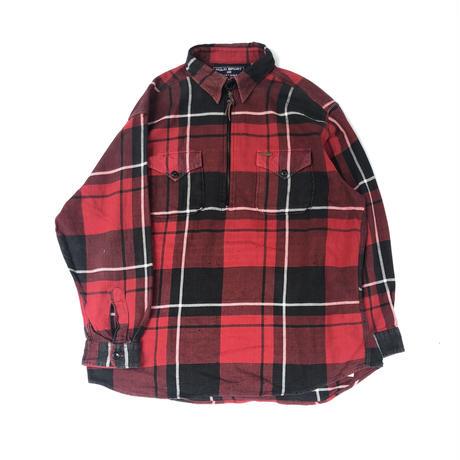 90's POLO SPORT ハーフジップシャツ (spice)