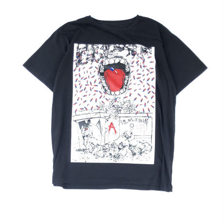 "THREE FACE / SS Crew Neck T-Shirt ""TEE15"" (black)"