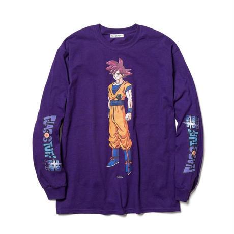 "F-LAGSTUF-F  x DRAGON BALL / ""GOKU"" L/S Tee (purple)"
