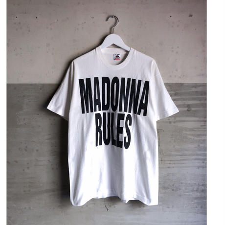 """90's MADONNA """"madonna rules Tee""""  (spice)"""