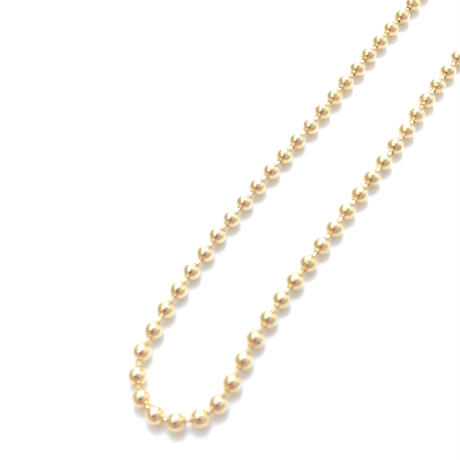 "14K GOLD NECKLACE ""Ball Chain"" (55cm)#4"