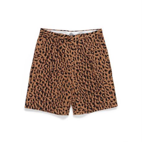 WACKO MARIA×DICKIES /pleated short trousers (type-2) (brown)