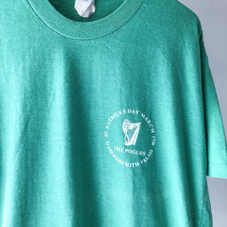 "80's THE POGUES ""St.Patrick Day""  Tee (spice)"