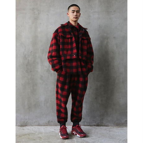 R.M GANG / BUFFALO CHECK SHIRT (red)
