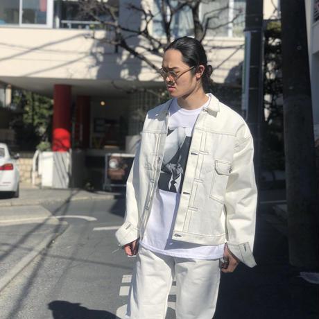 CSF for THREE FACE/ denim jacket (white)
