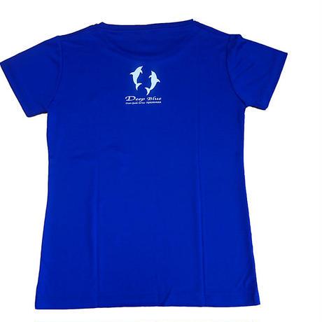 XラインTシャツ イルカ(コバルトブルー)