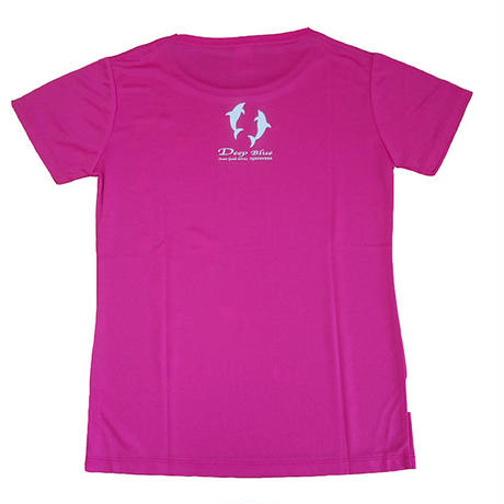 XラインTシャツ イルカ(トロピカルピンク)