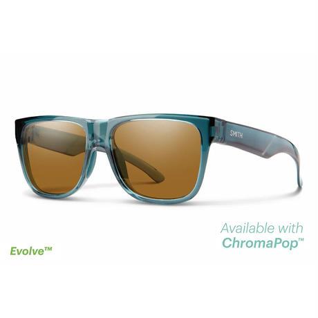 SMITH|Lowdown 2 Crystal Stone Green(ChromaPop Polarized Brown)