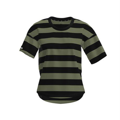 【DM便180円】ciele|WNSBTShirt Stripe - Olivebars - WOMEN'S