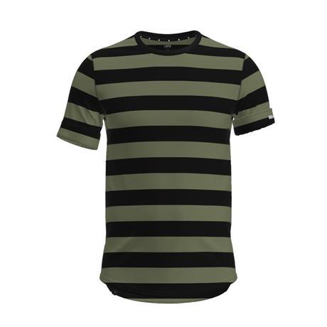 【DM便180円】ciele NSBTShirt Stripe - Olivebars - MEN'S