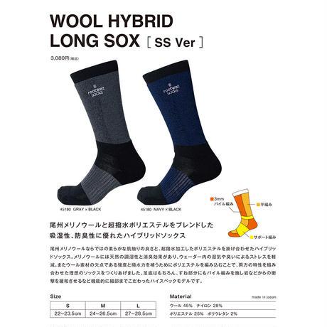 【DM便180円】rootwatsocks|WOOL HYBRID LONG SOX [SS Ver]