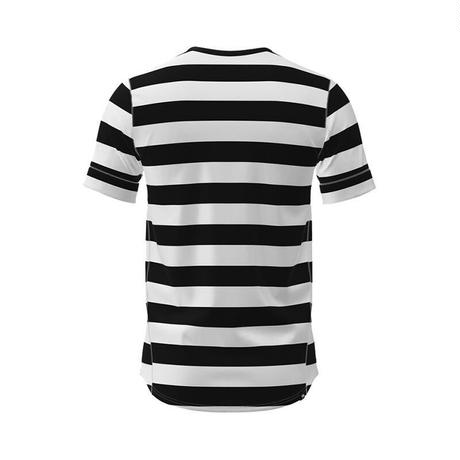 【DM便180円】ciele|NSBTShirt Stripe - 01 Blackbars - MEN'S