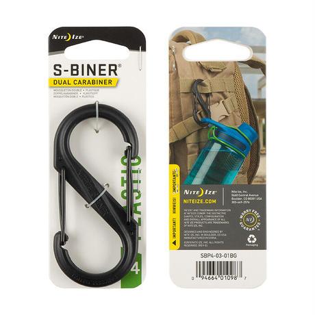 【DM便180円】NITE IZE|S-BINER DUAL CARABINER PLASTIC #4  Black
