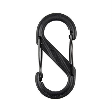 【DM便180円】NITE IZE S-BINER DUAL CARABINER PLASTIC #2  Black
