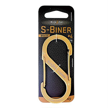 【DM便180円】NITE IZE  S-BINER BRASS #4